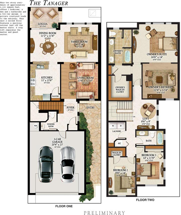 Heron Preserve Tanager Floor Plan