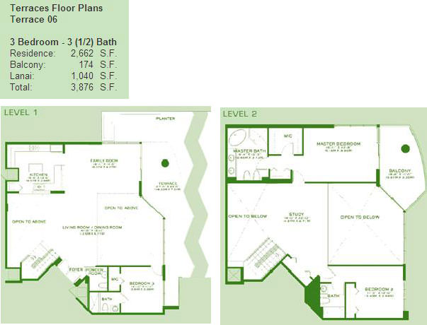 Atrium Terrace 6 Floor Plan